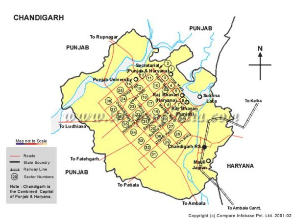 LOCATION OF STUDY - Map of Chandigarh